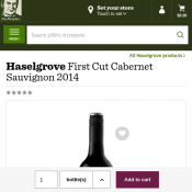 Haselgrove First Cut Cabernet Sauvignon 2014 $22.89 per bottle Deal Image