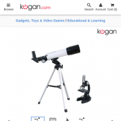 Kogan Telescope and Microscope Pack $49.95 Deal Image