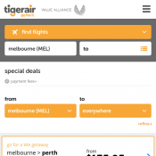 One-Way Flights from $40.95 @Tiger Airways Deal Image