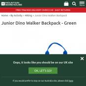 Junior Dino Walker Backpack - Green $8.99