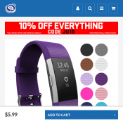 Yousave Fitbit Charge 2 Strap Single (Small) - Plum $5.99 Deal Image