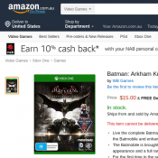 Batman: Arkham Knight XBOX One $14.99 Deal Image