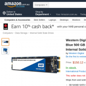 Western Digital WD Blue 500 GB 3D NAND SATA $150.12 + $9.62 Delivery Deal Image