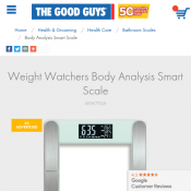 Weight Watchers Body Analysis Smart Scale $39.00 Deal Image