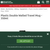 Plastic Double Walled Travel Mug - 350ml Now $3.99 Deal Image