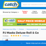PJ Masks Deluxe Roll & Go $5 Deal Image