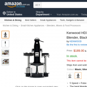 Kenwood HDX758BK kMix Hand Blender, Black/Silver 	$189.00 Deal Image