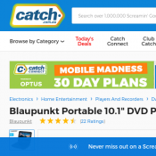 "Blaupunkt Portable 10.1"" DVD Player - Black $99"