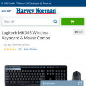 Logitech MK345 Wireless Keyboard & Mouse Combo $48