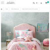 Adairs Kids Sparkling Mermaid Mint Quilt Cover Set From $65.99 Deal Image