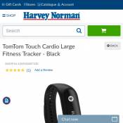 TomTom Touch Cardio Large Fitness Tracker - Black $59 (RRP $149) Deal Image