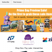 Prime Day Toy Preview Sale