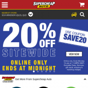 20% Off Storewide + Noticeable Offers Online Only @Supercheap Auto