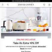 Take an Extra 10% Off Already Reduced Kitchen Appliances @David Jones Deal Image