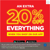 20% OFF Everything when you shop via app @Sportsdirect
