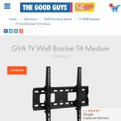 GVA TV Wall Bracket Tilt Medium $29.00 Deal Image