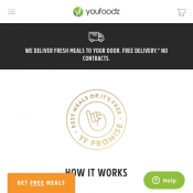 $10 Off First Order - Minimum Spend $49 @Youfoodz Deal Image