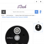 Edimax Peephole Wireless Door Camera IC-6220DC $104 Deal Image