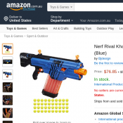Nerf Rival Khaos MXVI-4000 Blaster (Blue) for $76.85 Deal Image