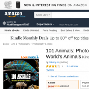 101 Animals: Photo Book of the World's Animals Kindle Edition @Amazon Deal Image