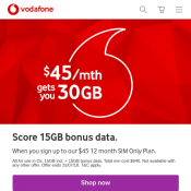 Unmetered Streaming Passes for between $5 - $15 extra per month @Vodafone Deal Image