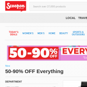 48 Hours Big Brand Sale: Up to 90% Off @Scoopon Deal Image