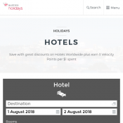 $25 Off Hotel Booking - Minimum Spend $250 @Virgin Australia Deal Image