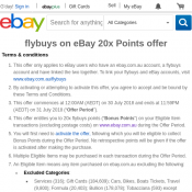 Collect 20x Flybuys Points on Every Purchase @eBay