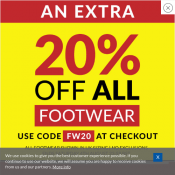 Take a Further 20% Off Up to 80% Off Footwear @Sports Direct Deal Image
