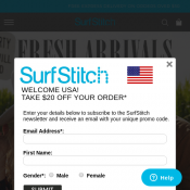 Take an Extra 20% Off Sale Styles @SurfStitch