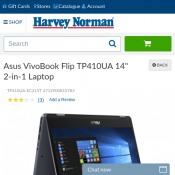 "Asus VivoBook Flip TP410UA 14"" 2-in-1 Laptop $798 20% OFF Deal Image"