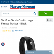 TomTom Touch Cardio Large Fitness Tracker - Black $58 Deal Image