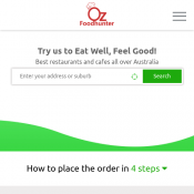 15% OFF ($100 Min Order) On your First Order with favourite Restaurant, Use Promo Code OZ015 Deal Image