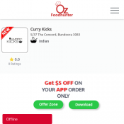 25% off - Curry Kicks Restaurant Bundoora 3083 Deal Image