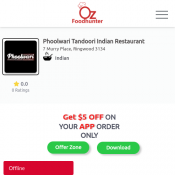 25 % off - Phoolwari Tandoori Indian Restaurant,Ringwood Deal Image