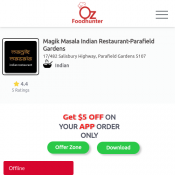 25 % off - Magik Masala Indian Restaurant-Parafield Gardens Deal Image