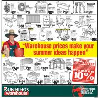Bunnings Catalogue Summer Prices 4 January 2017