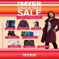 Myer Catalogue Stocktake Sale 29 May - 10 Jun 2018